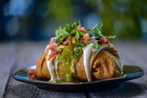 Loaded Chimichanga Vegan Style