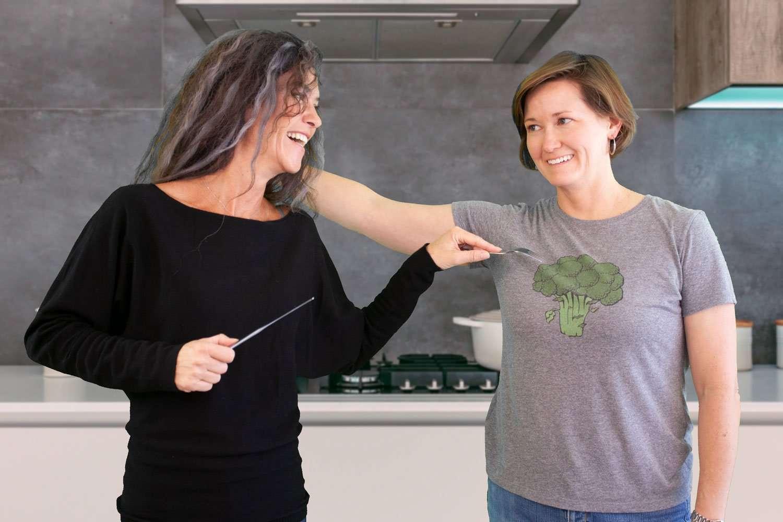 Melita And Kori have fun in the kitchen