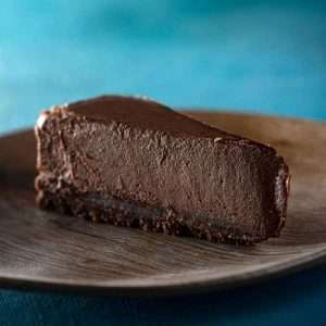 Slice of Chocolate Cheesecake