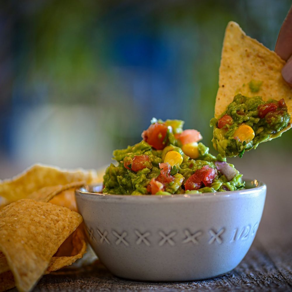 Corn Guacamole With Dipping Chip