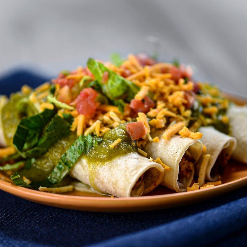 Melita's Gluten Free Enchiladas On A Plate