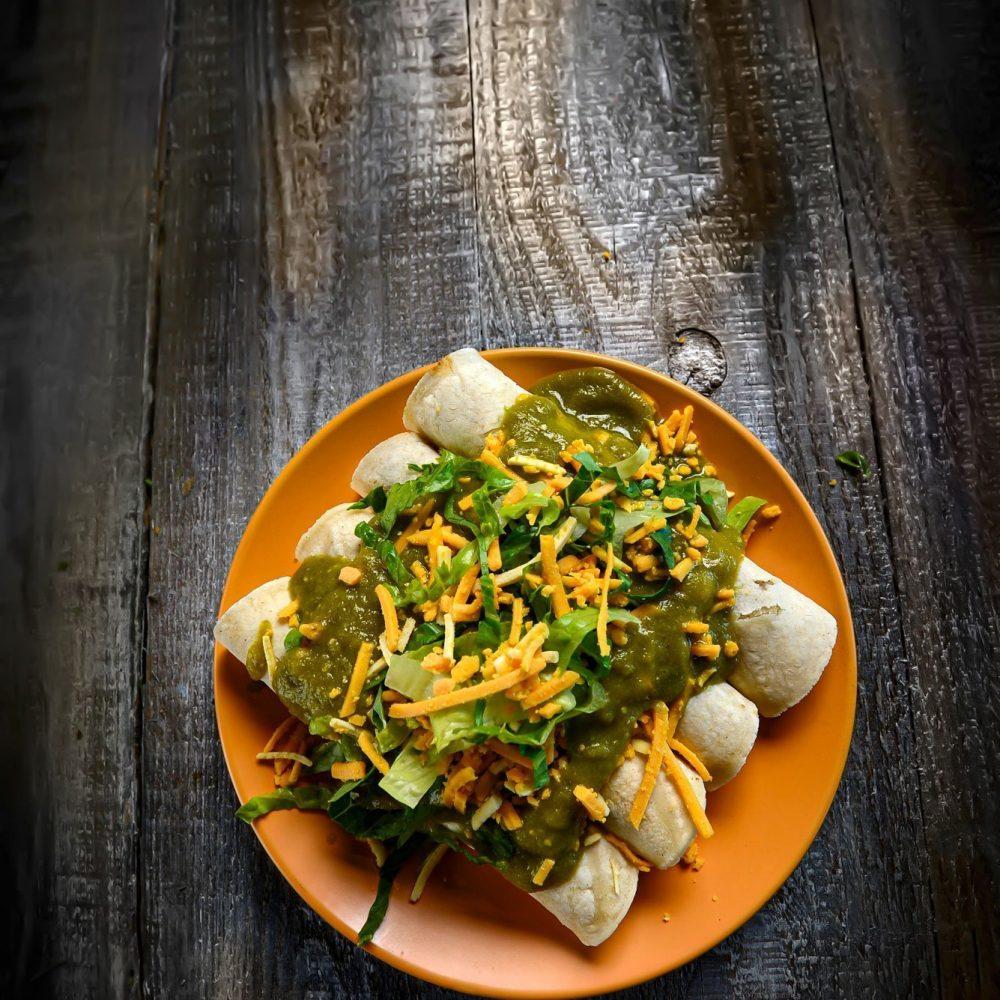 Green Chili Enchiladas