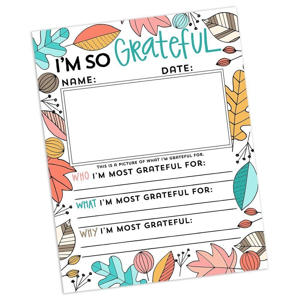 preview of download page for I'm so grateful printouts