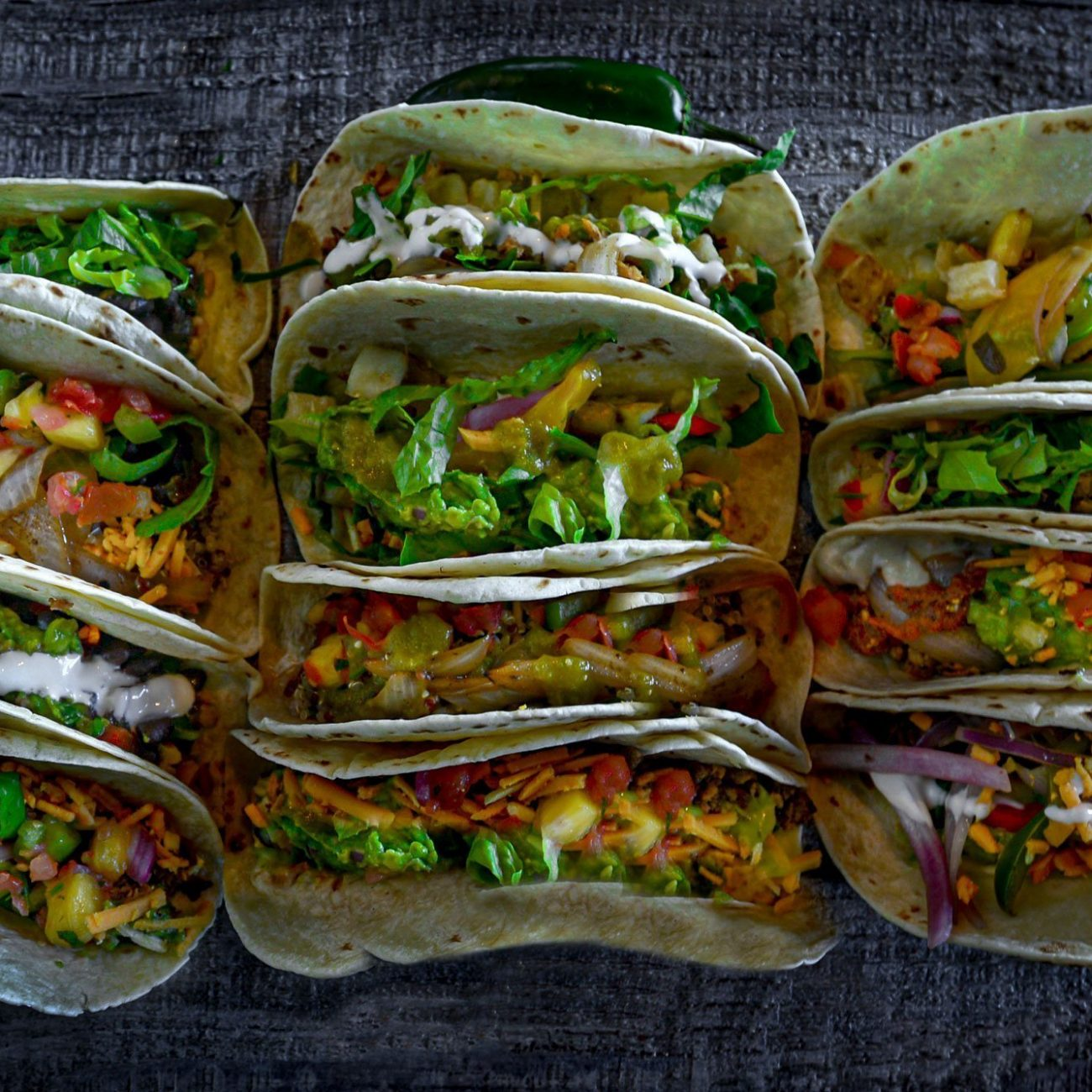 Lots of Veg Tacos