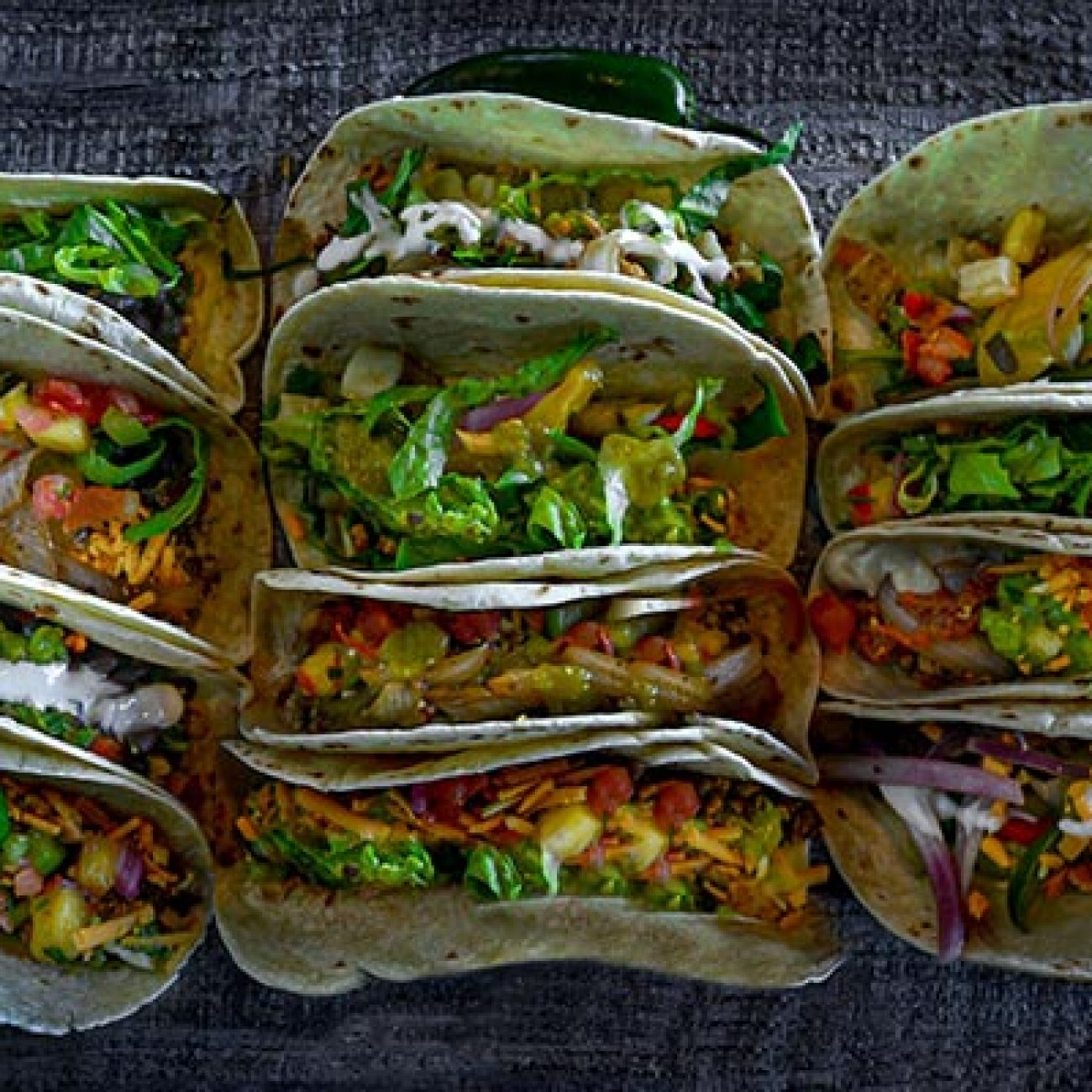 Lots of Vegan Tacos