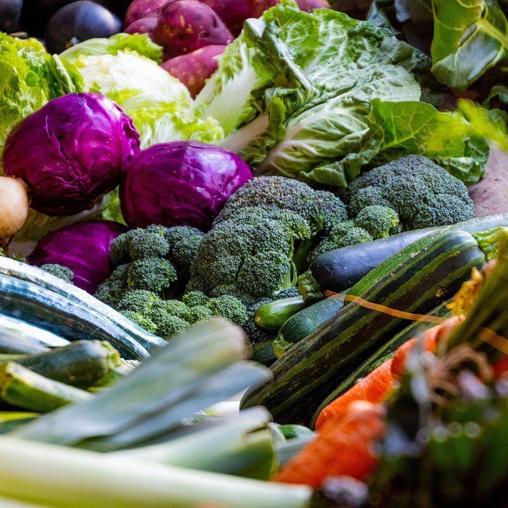 Picture of lots of varieties of vegetables